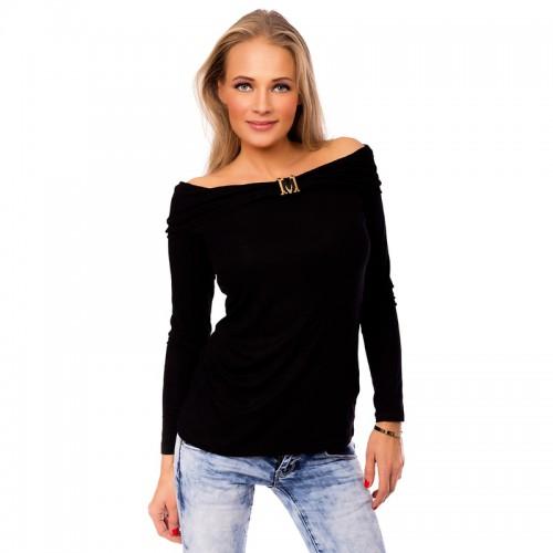64e2999a3a5e Dámska móda a doplnky - Čierna dámska blúzka s odhalenými ramenami ...