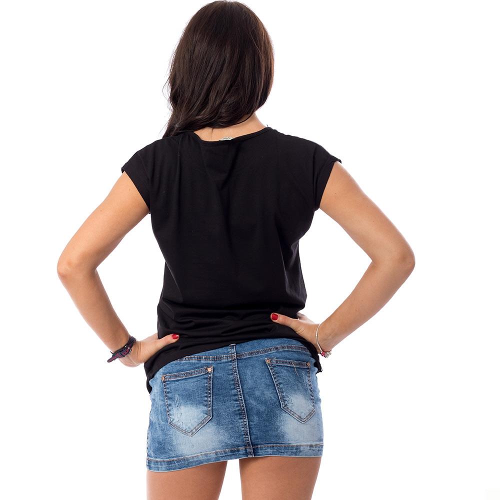 73b3e3179538 ... Dámska móda a doplnky - Dámske tričko so srdiečkami - čierne