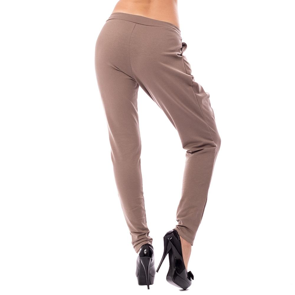 fe7e23fe0af0 ... Dámska móda a doplnky - Háremové nohavice s prekladom - hnedé