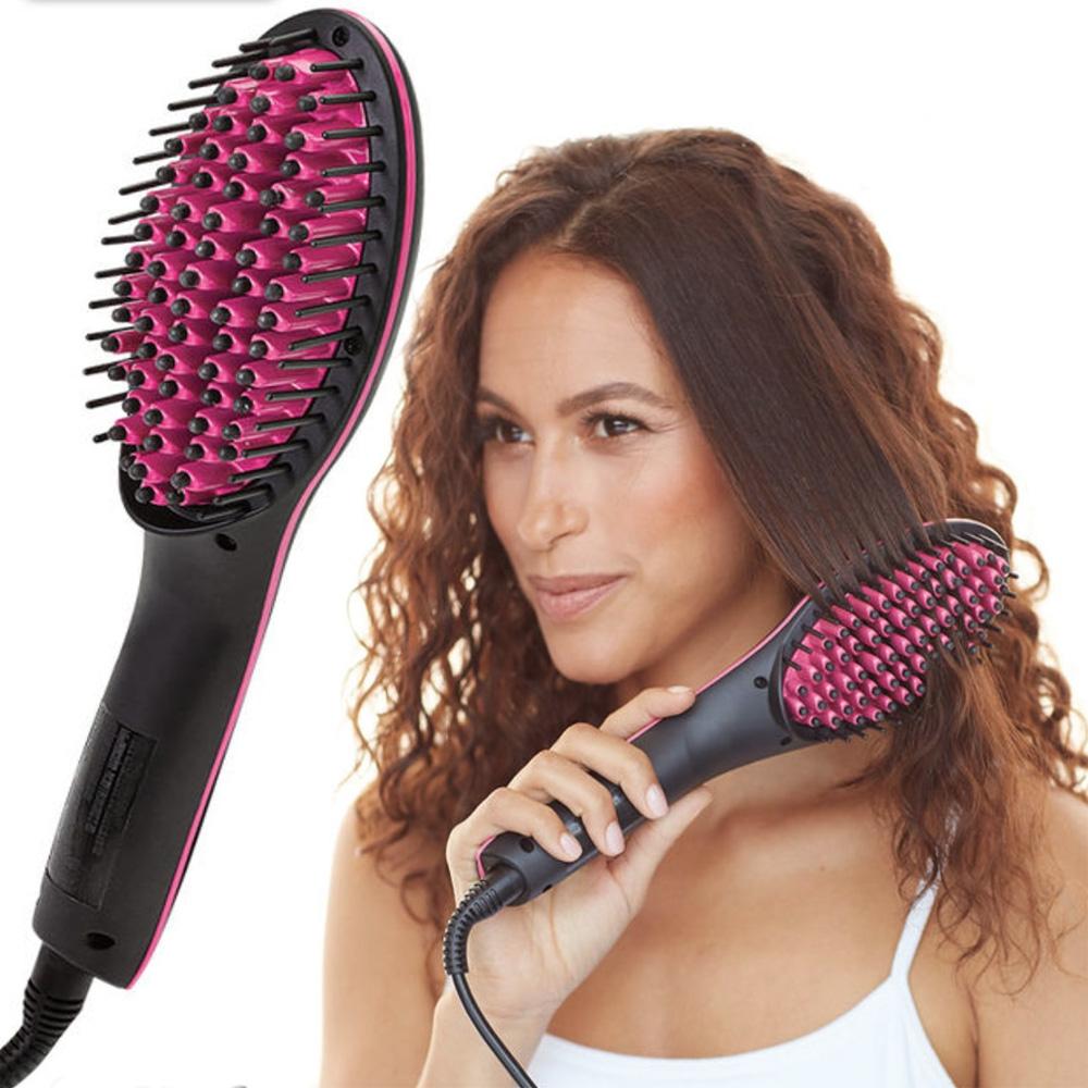Predlžovanie vlasov a účesy - Simply Straight - keramická vyrovnávacia kefa  ... 207ef5bb1a4