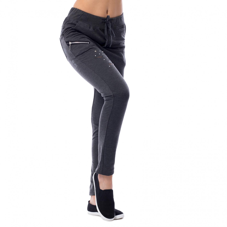81e7f98fe447 ... Dámska móda a doplnky - Dámske teplákové nohavice Fashion - tmavo šedé