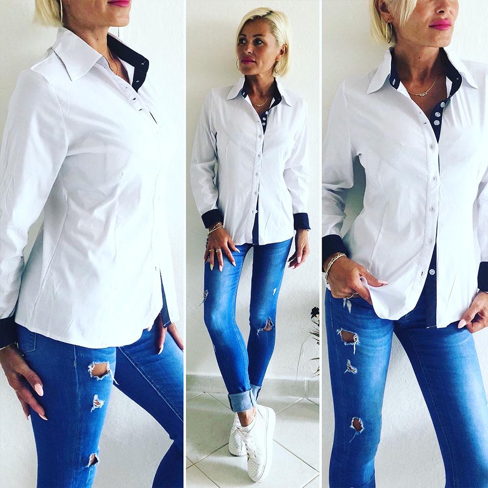 b22df96c39a Dámska biela košeľa - Chic | Dámske blúzky | Svetový Tovar