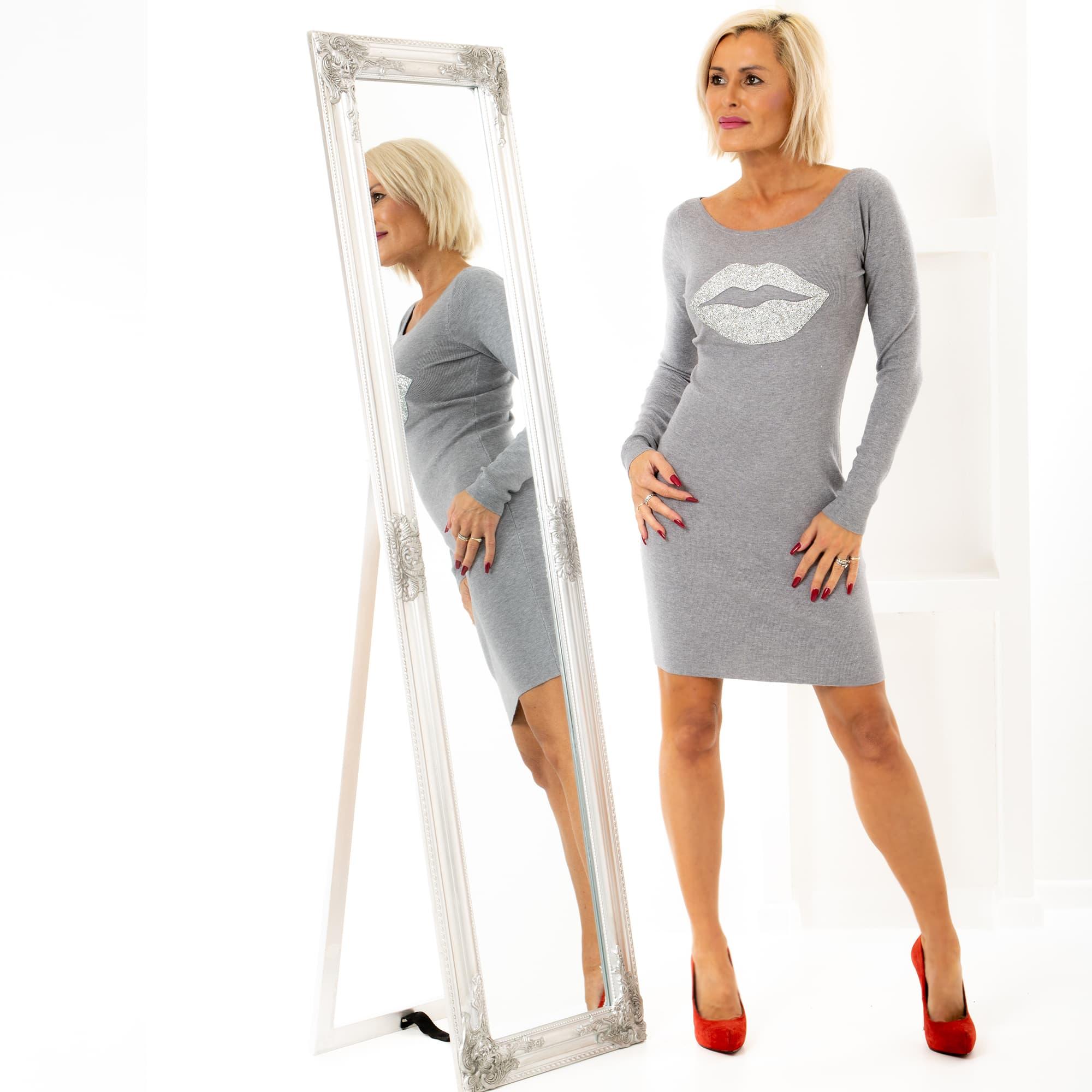 409e84cd9104 Dámska móda a doplnky - Úpletové šaty Grey kiss ...