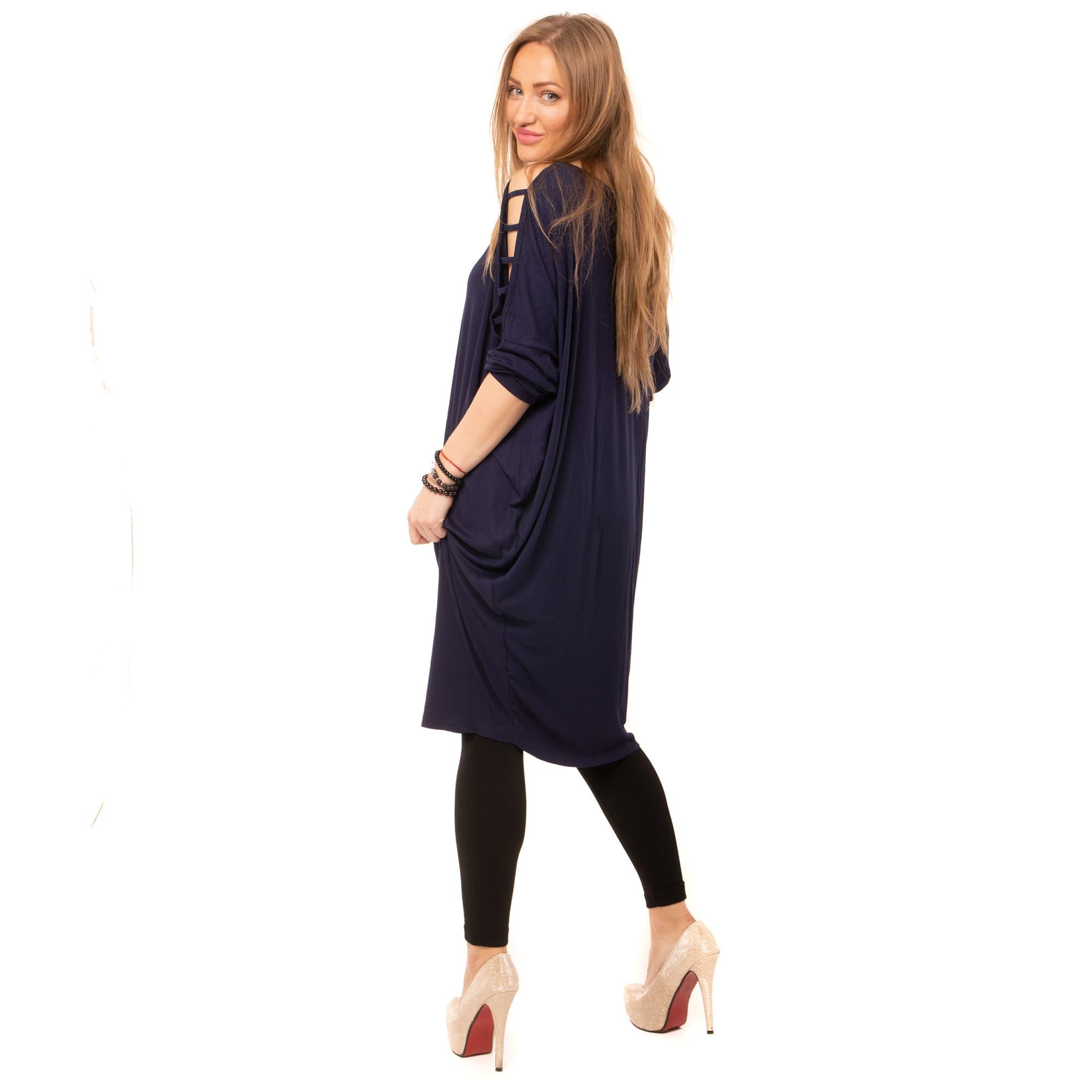 ... Dámska móda a doplnky - Tunika s prestrihmi - modrá ... eef5f26316