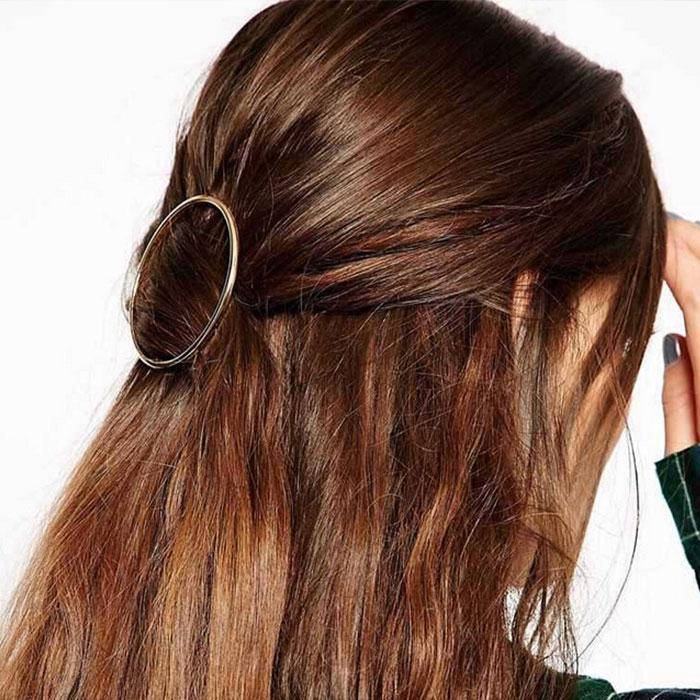 Predlžovanie vlasov a účesy - Kovová spona do vlasov - Orbit - zlatá ... b3b70066b0