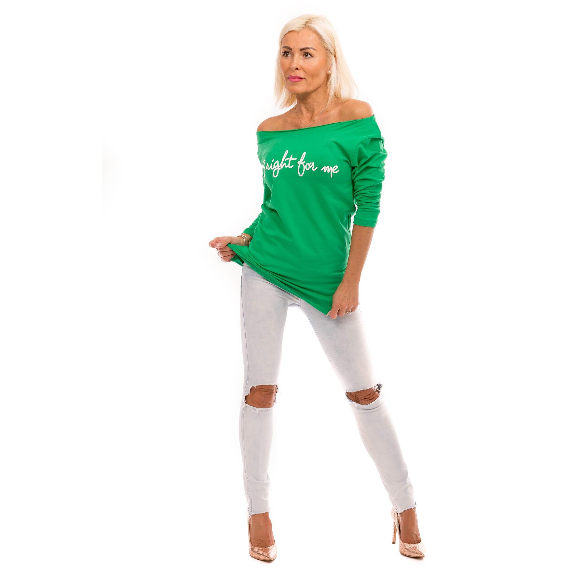 100687a9276a Dámska móda a doplnky - Dámska ležérna blúzka Bright for me - zelená ...