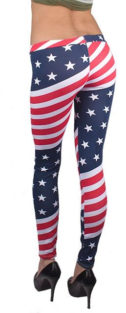 e59c17ccc2cb ... Dámska móda a doplnky - Dámske legíny so vzorom americkej vlajky ...