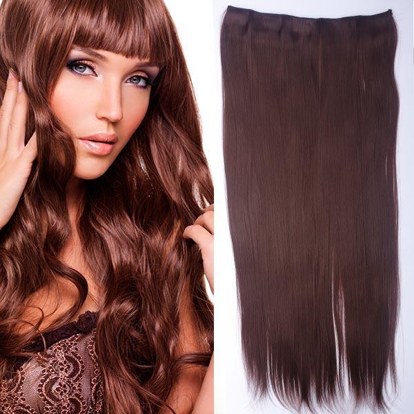 Clip in vlasy - 60 cm dlhý pás vlasov - odtieň (33 (tmavý gaštan)) - Světové Zboží