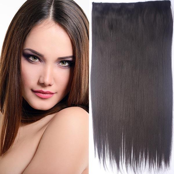 Clip in vlasy - 60 cm dlhý pás vlasov - odtieň (6 (hnedá)) - Světové Zboží