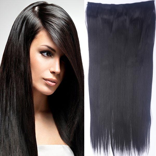 Clip in vlasy - 60 cm dlhý pás vlasov - odtieň (2 (tmavo hnedá pralinka)) - Světové Zboží