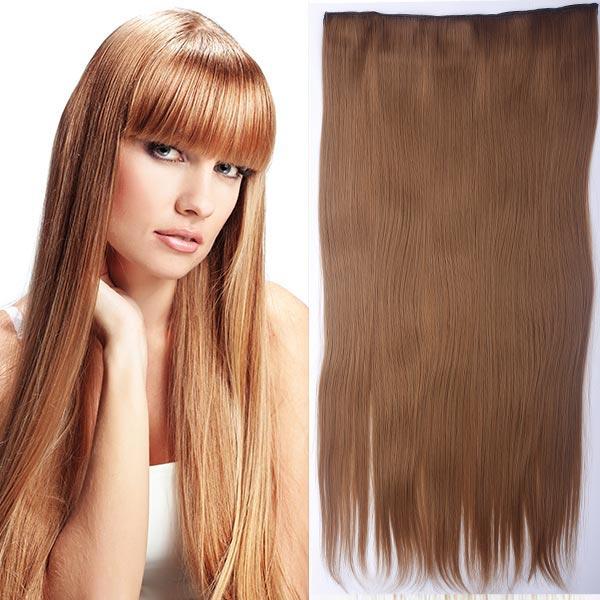 Clip in vlasy - 60 cm dlhý pás vlasov - odtieň (27 (karamelová)) - Světové Zboží