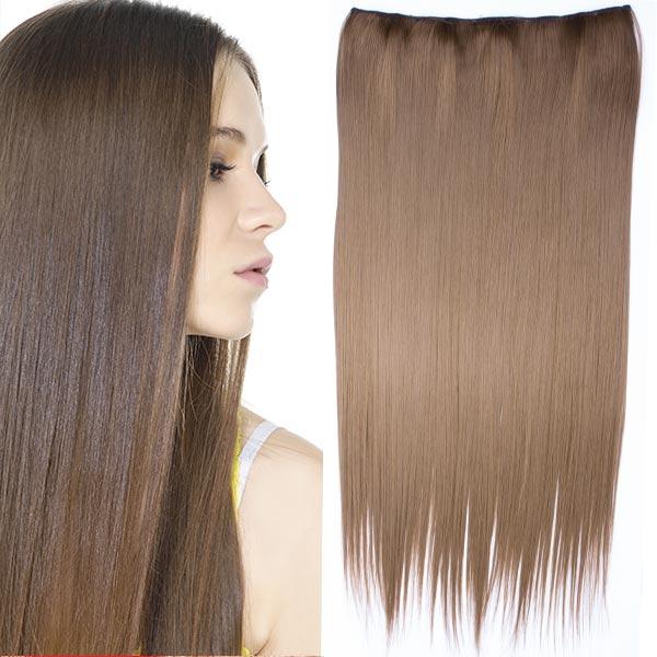 Clip in vlasy - 60 cm dlhý pás vlasov - odtieň (6P (tmavo plavá)) - Světové Zboží