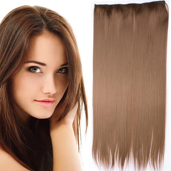Clip in vlasy - 60 cm dlhý pás vlasov - odtieň (6A (nugátovo hnedá)) - Světové Zboží