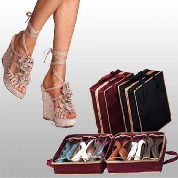 Dámska móda a doplnky - Prenosný organizér na topánky - 6 párov ... aaf95334d11
