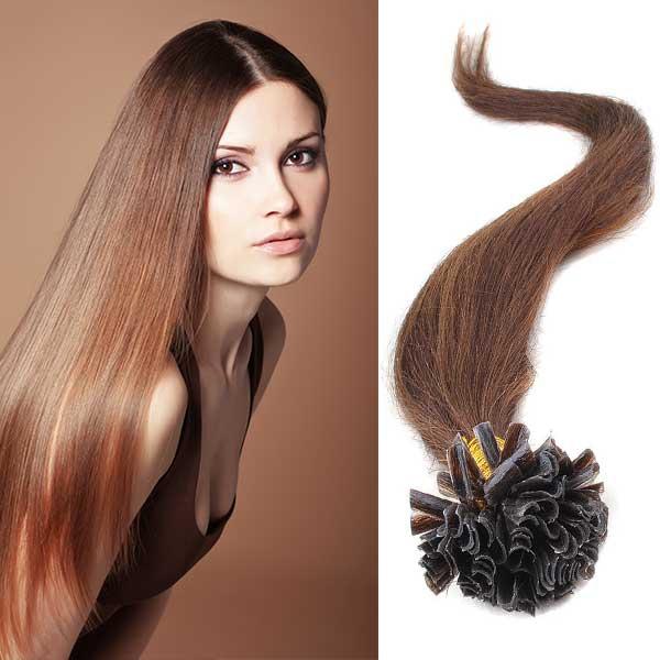 Predlžovanie vlasov a účesy - Vlasy keratín kvalita Remy AAA 51 cm 91ae0ccc24a