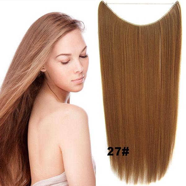 Predlžovanie vlasov a účesy - Flip in vlasy - 55 cm dlhý pás vlasov -  odtieň ... 4588440a12e