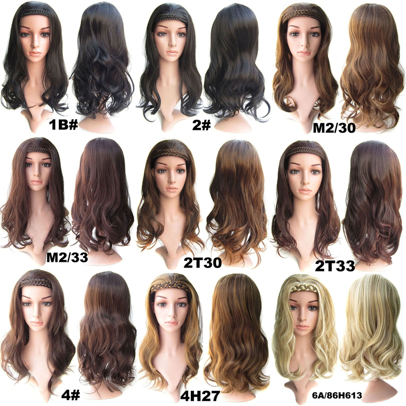 8f73de093 Predlžovanie vlasov a účesy - Poloparochňa - 3/4 parochňa s čelenkou z  pletených vlasov ...
