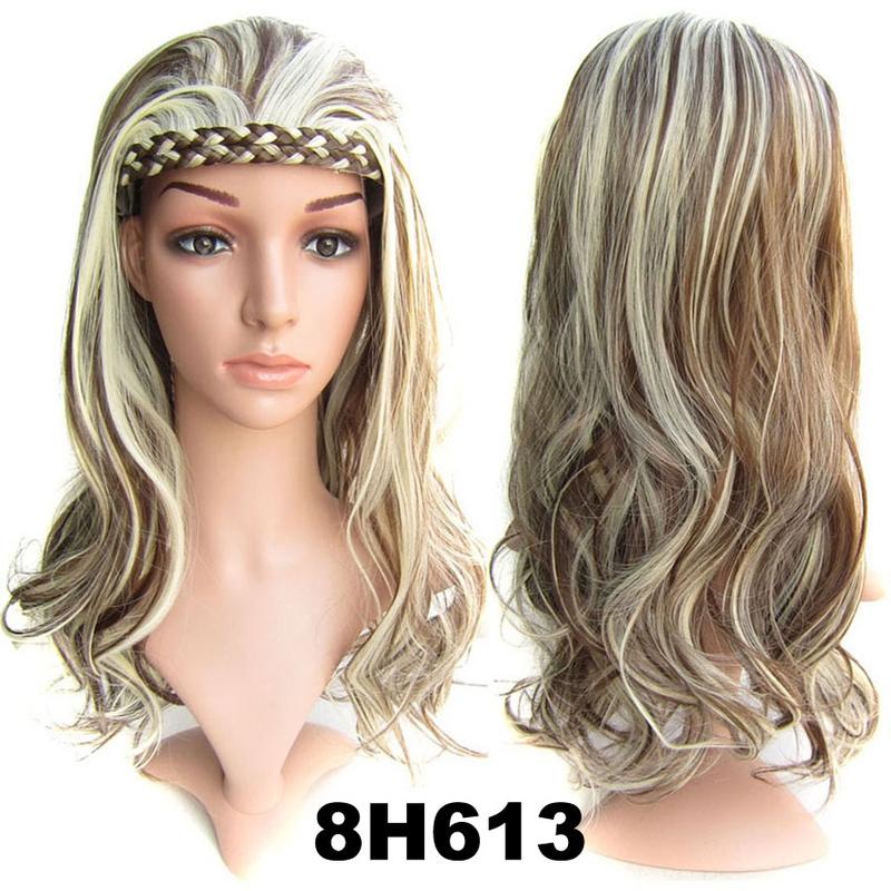 603b87d4e ... Predlžovanie vlasov a účesy - Poloparochňa - 3/4 parochňa s čelenkou z  pletených vlasov ...