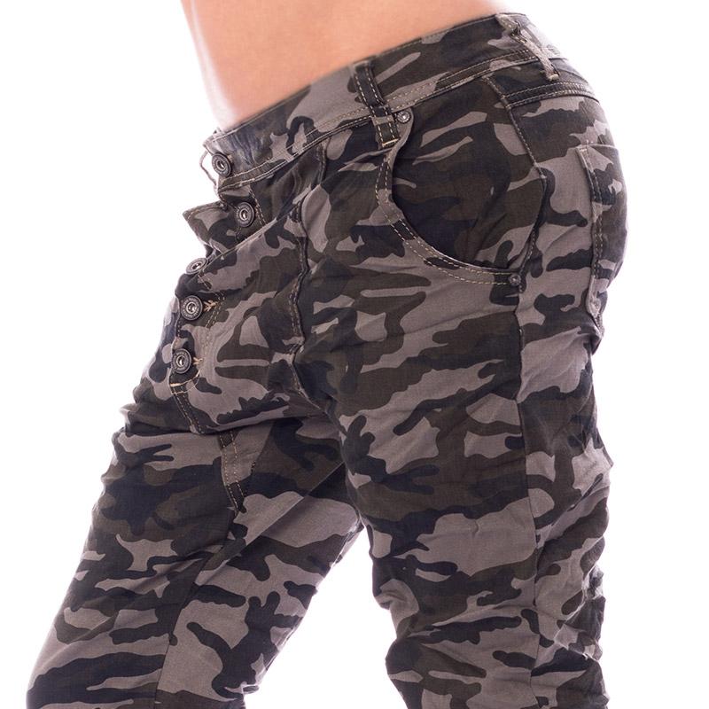 20ede098d3 ... Dámska móda a doplnky - Dámske pokrčené nohavice Army Baggy jeans ...