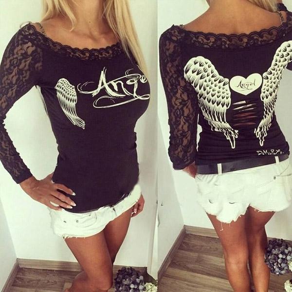bc90d5c7463a Dámska móda a doplnky - Dámsky čierny top Angel ...