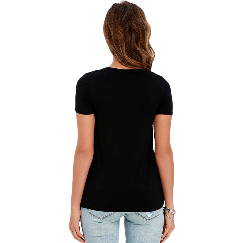 fcef8eb638f4 ... Dámska móda a doplnky - Dámske tričko s výstrihom Criss Cross - čierne  ...