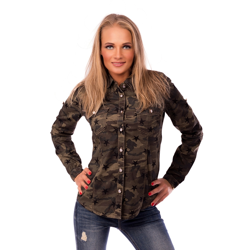 d7d19a915912 Dámska móda a doplnky - Dámska košeľa US Army štýl ...