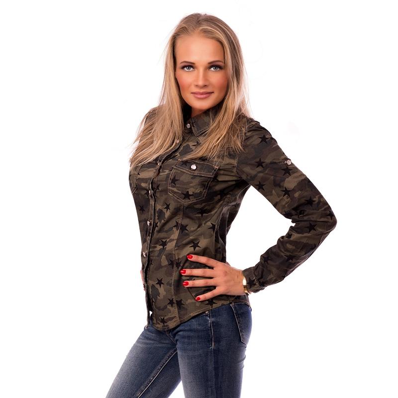 f4056e7c8953 ... Dámska móda a doplnky - Dámska košeľa US Army štýl ...