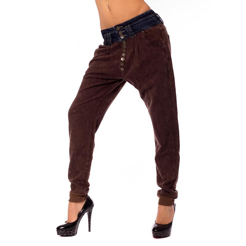 225cb4b4b7b4 Dámska móda a doplnky - Dámske háremové nohavice s jeans pásom ...