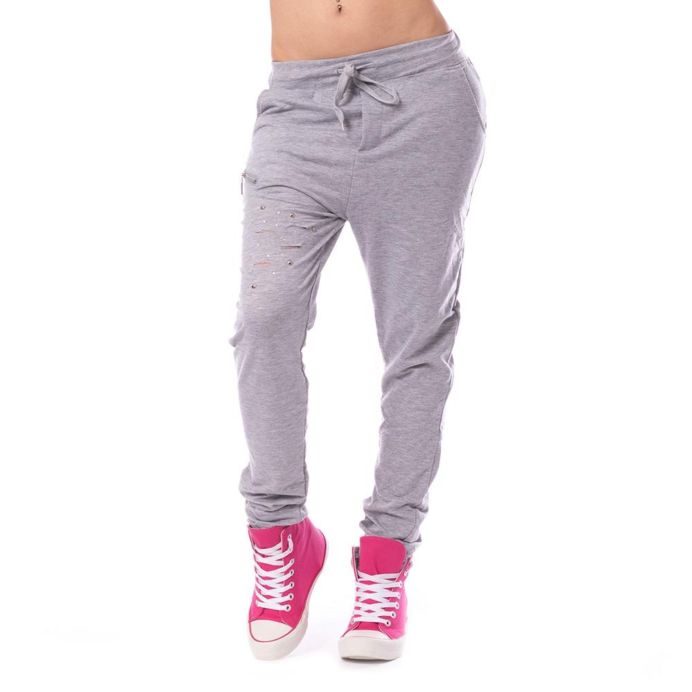 54ffb1383ff6 ... Dámska móda a doplnky - Dámske teplákové nohavice Fashion - šedé