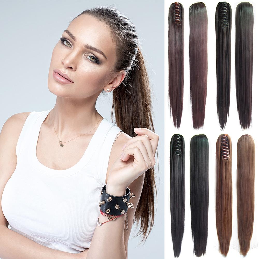 Predlžovanie vlasov a účesy - Cop - vrkoč rovný 55 cm na škripci ... fb4b8003024