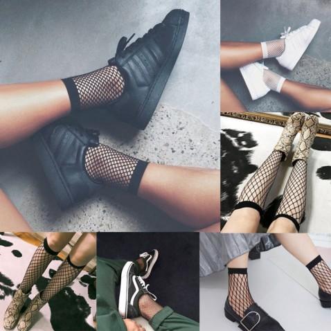 Dámske sieťované ponožky