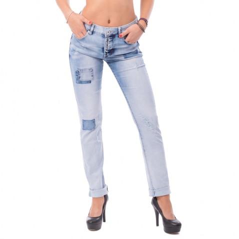 Dámske trhané jeans Boyfriend