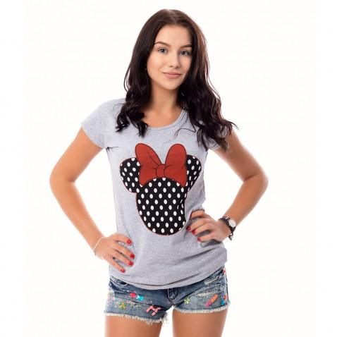 Dámske tričko Mickey - sivé