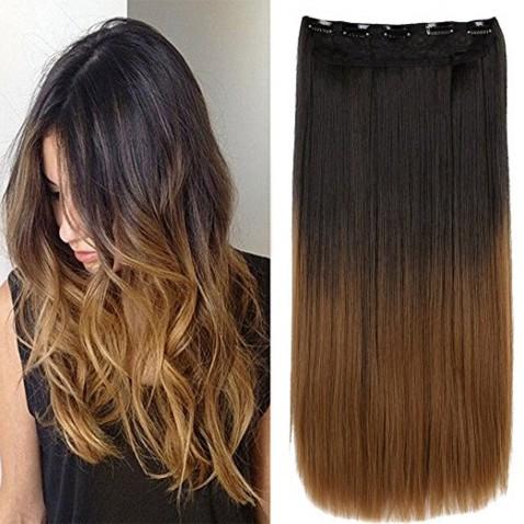 Clip in vlasy - rovný pás - ombre - odtieň 2 T 27