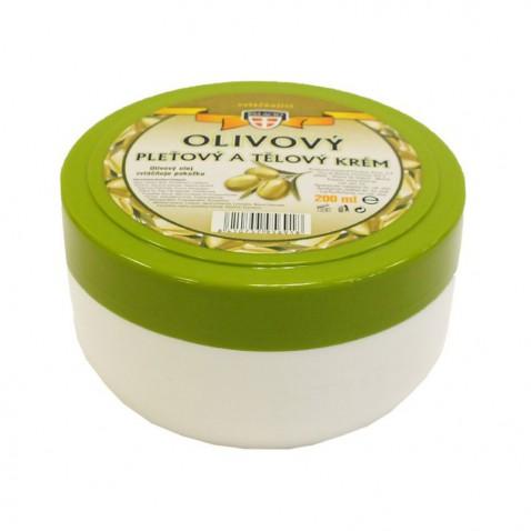 Olivový olej pleťový a telový krém, 200 ml