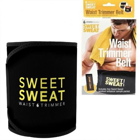 Neoprénový pás na chudnutie Sweet Sweat, čierny - žltý