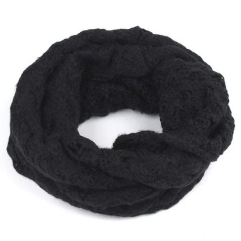 Pletený nákrčník - čierna
