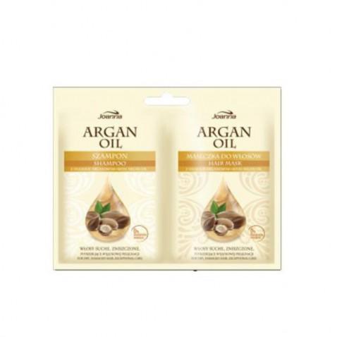 Joanna HS Argan oil - šampón a maska sáčok 2 x 10 ml