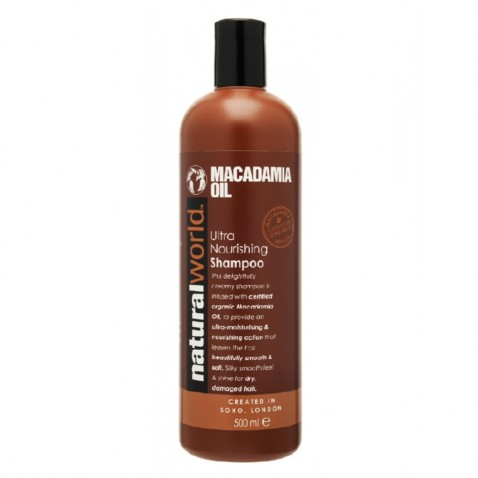 Natural World Macadamia oil vlasový šampón, 500 ml
