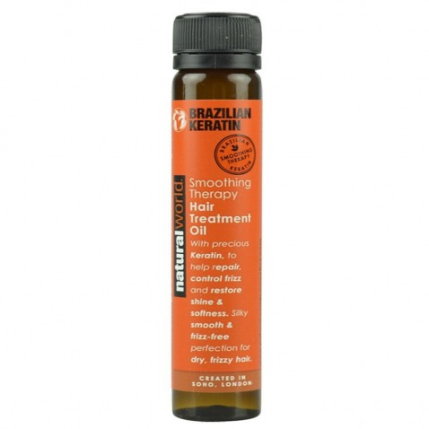 Natural World Brazilian keratin oil Treatment, 25 ml