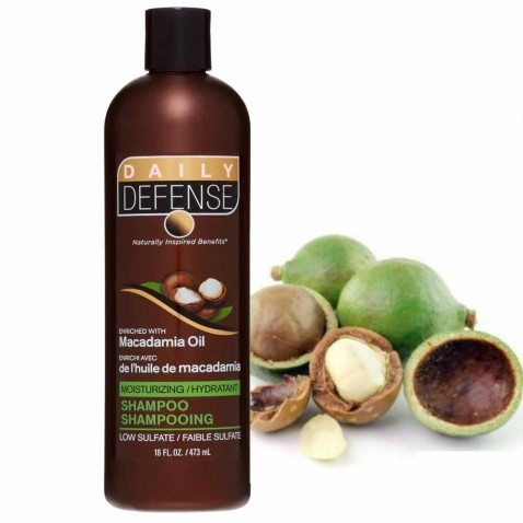 Daily Defence vlasový šampón s makadamiovým olejom, 473 ml