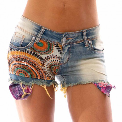 Dámske jeans kraťasy - Indian