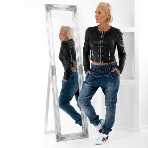 Dámske luxusné baggy jeans s prešívaním