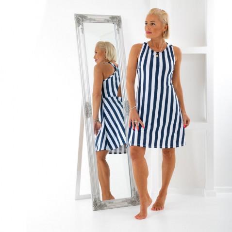 Dámske pruhované šaty - Seafarer