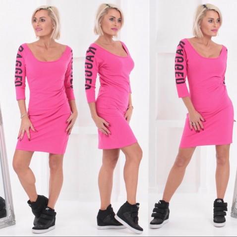 Dámske elastické šaty RAGGED - ružové