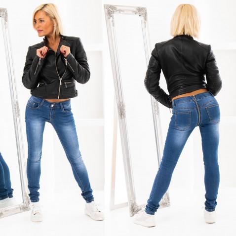 Jeans so zipsovou aplikáciou