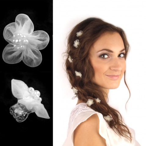 Štipec do vlasov s kvetom