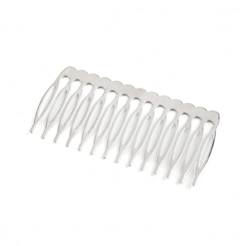 Hrebeň do vlasov kovový 40 x 75 mm - platina