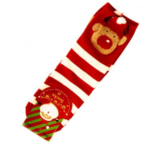 Vianočné ponožky - pruhované