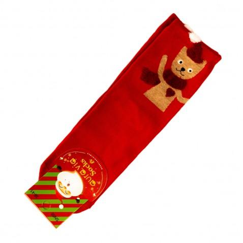 Vianočné ponožky - červené